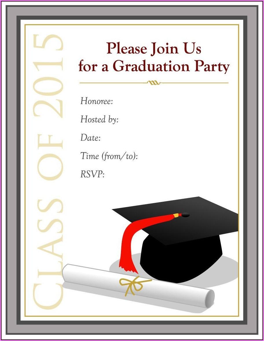 Graduation Invitation Template Free