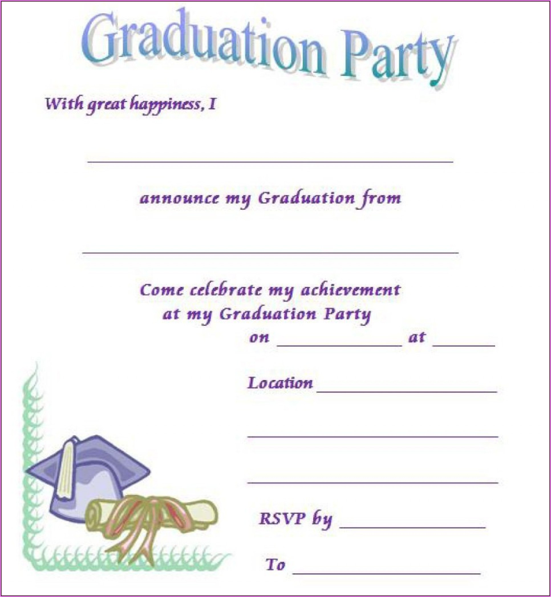 Graduation Invitation Templates Free Download