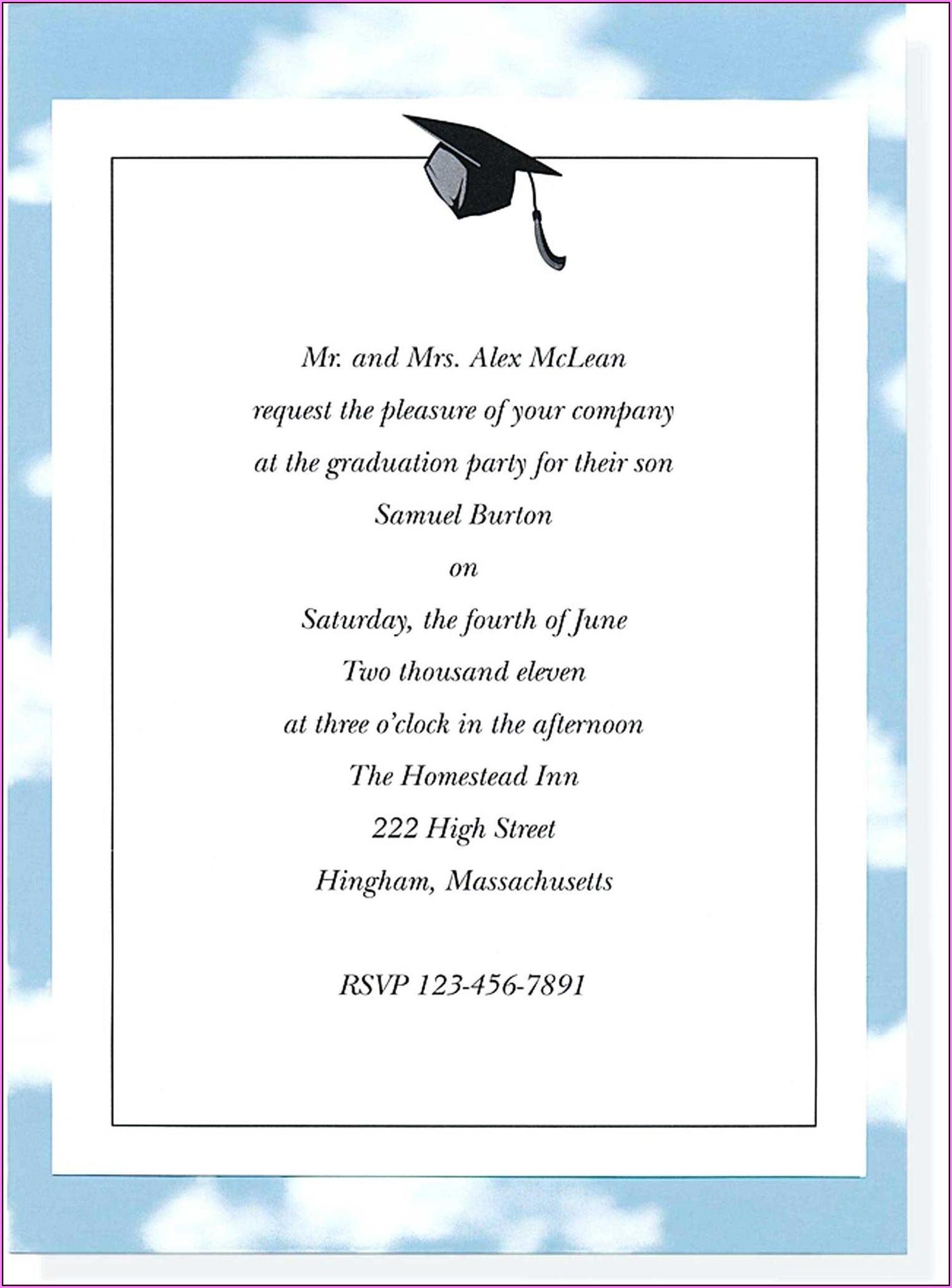 Graduation Invitation Templates Free Printable