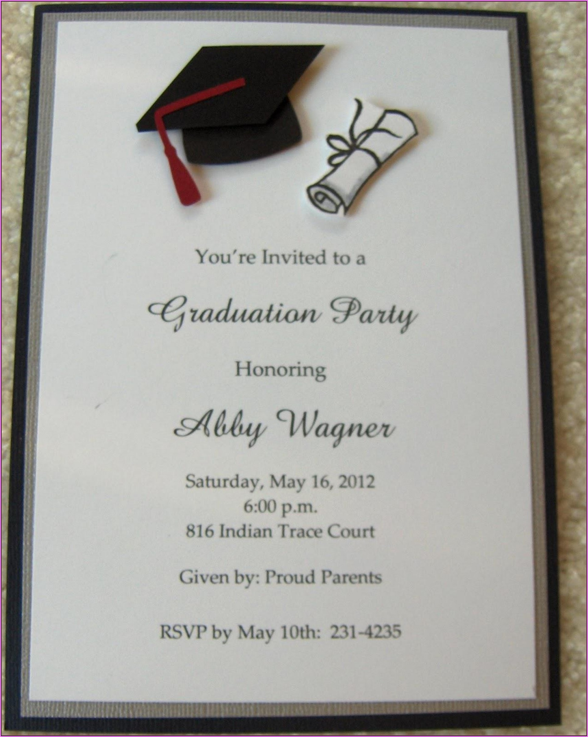 Graduation Party Invitation Templates Free