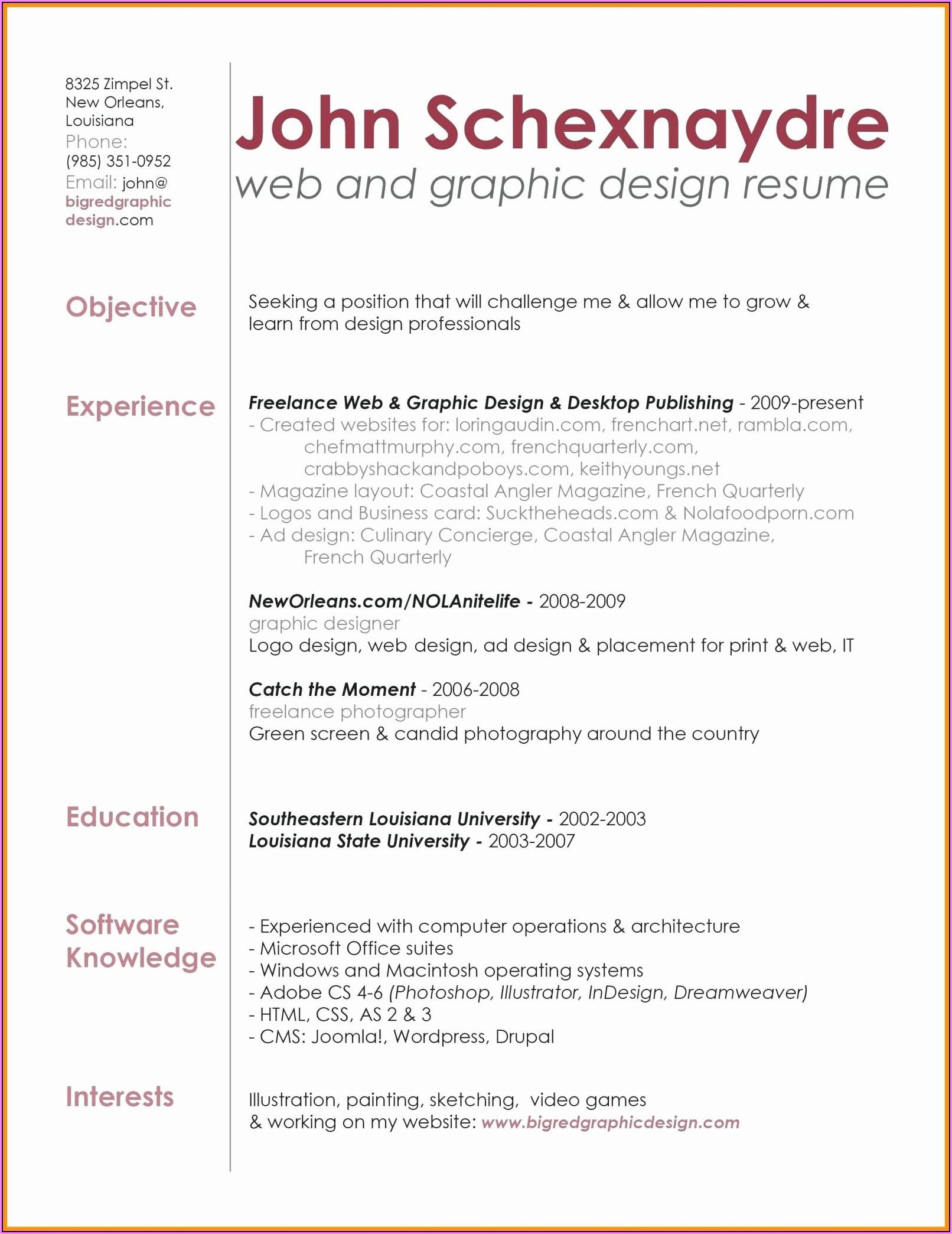 Graphic Artist Invoice Template