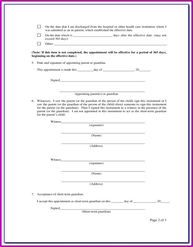 Guardianship Paperwork Pa