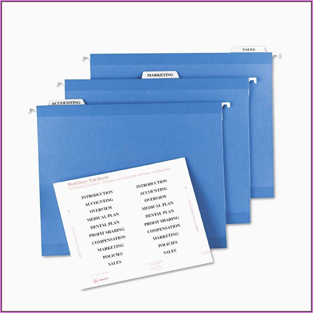 Hanging Folder Tab Template Free