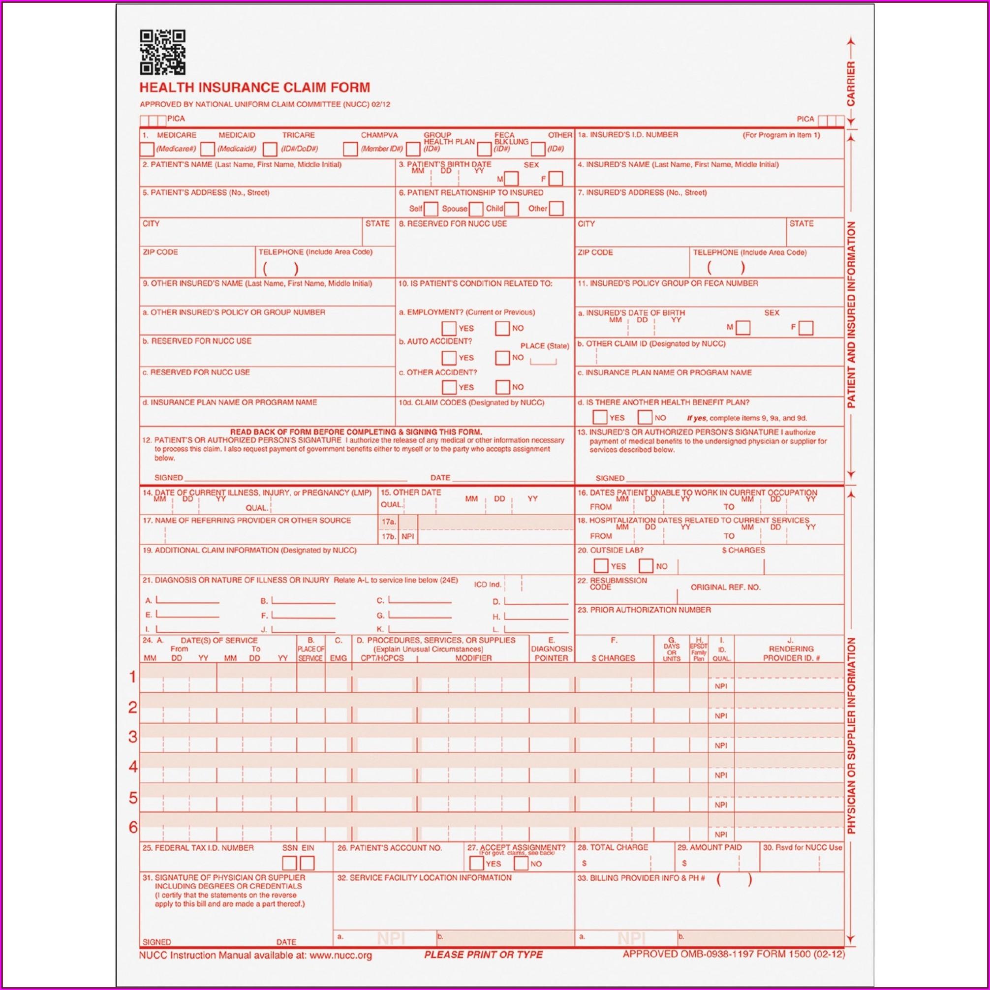 Hcfa Forms Online Free