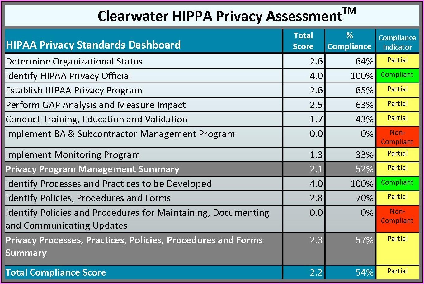 Hipaa Risk Assessment Template