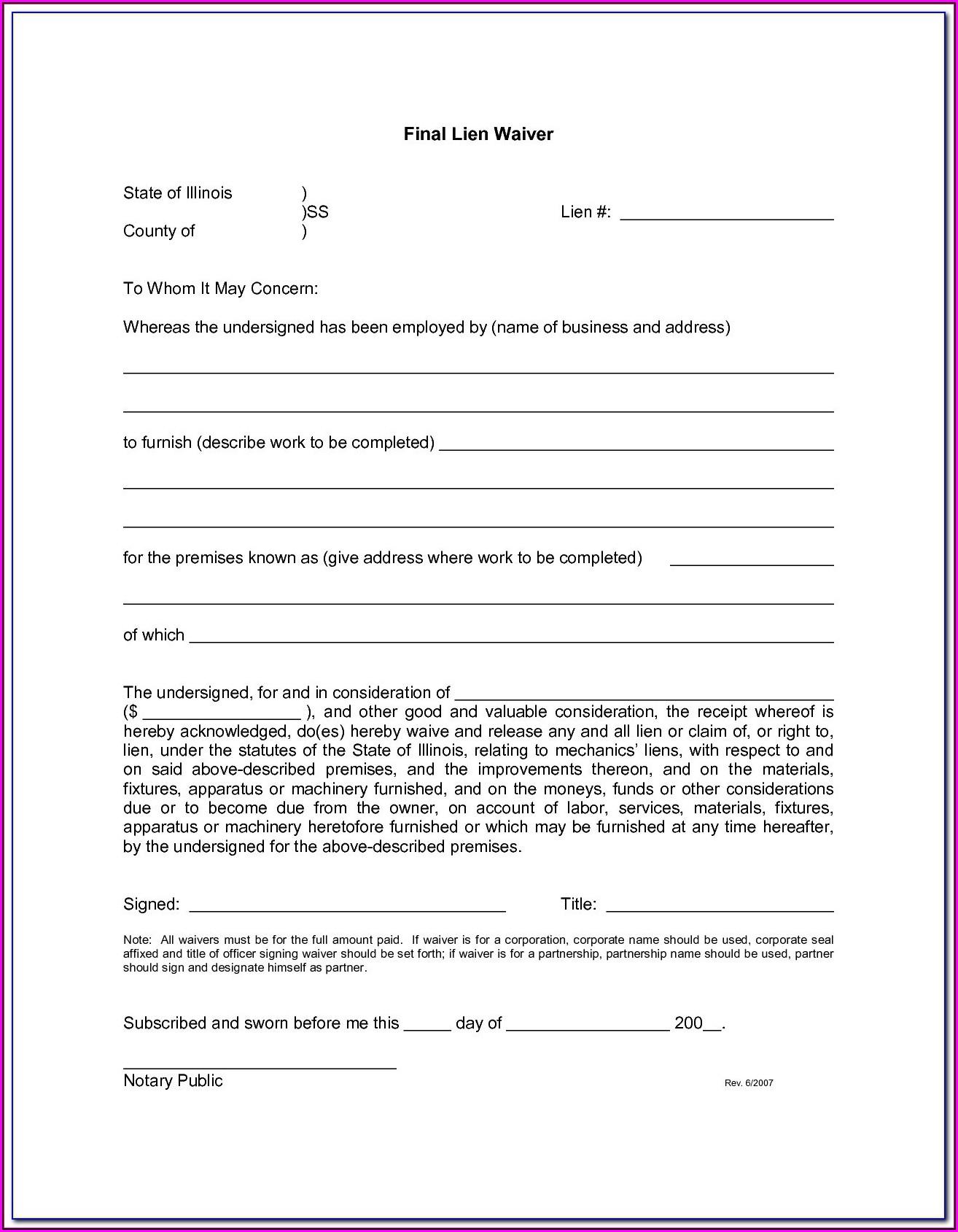 Hoa Lien Release Form