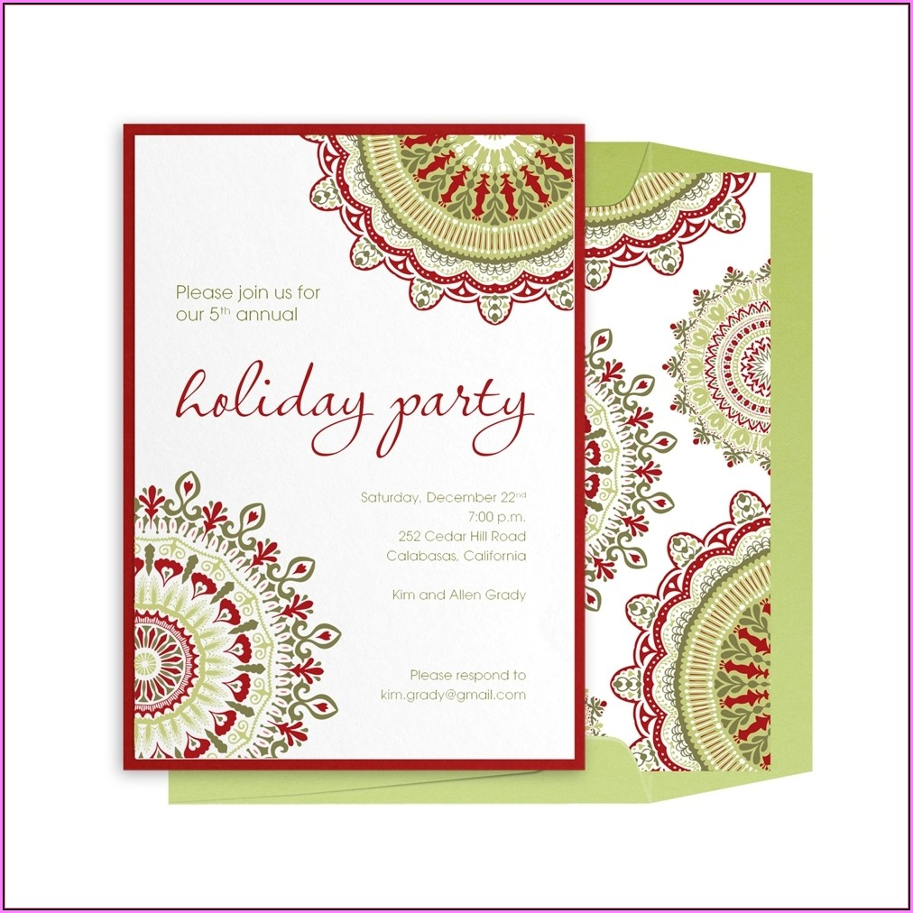 Holiday Brunch Invitation Templates