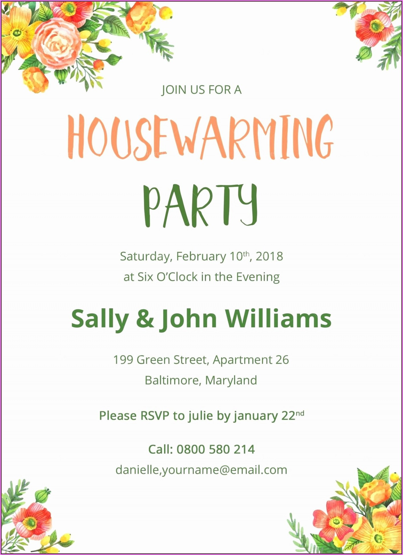 Housewarming Invitation Templates India