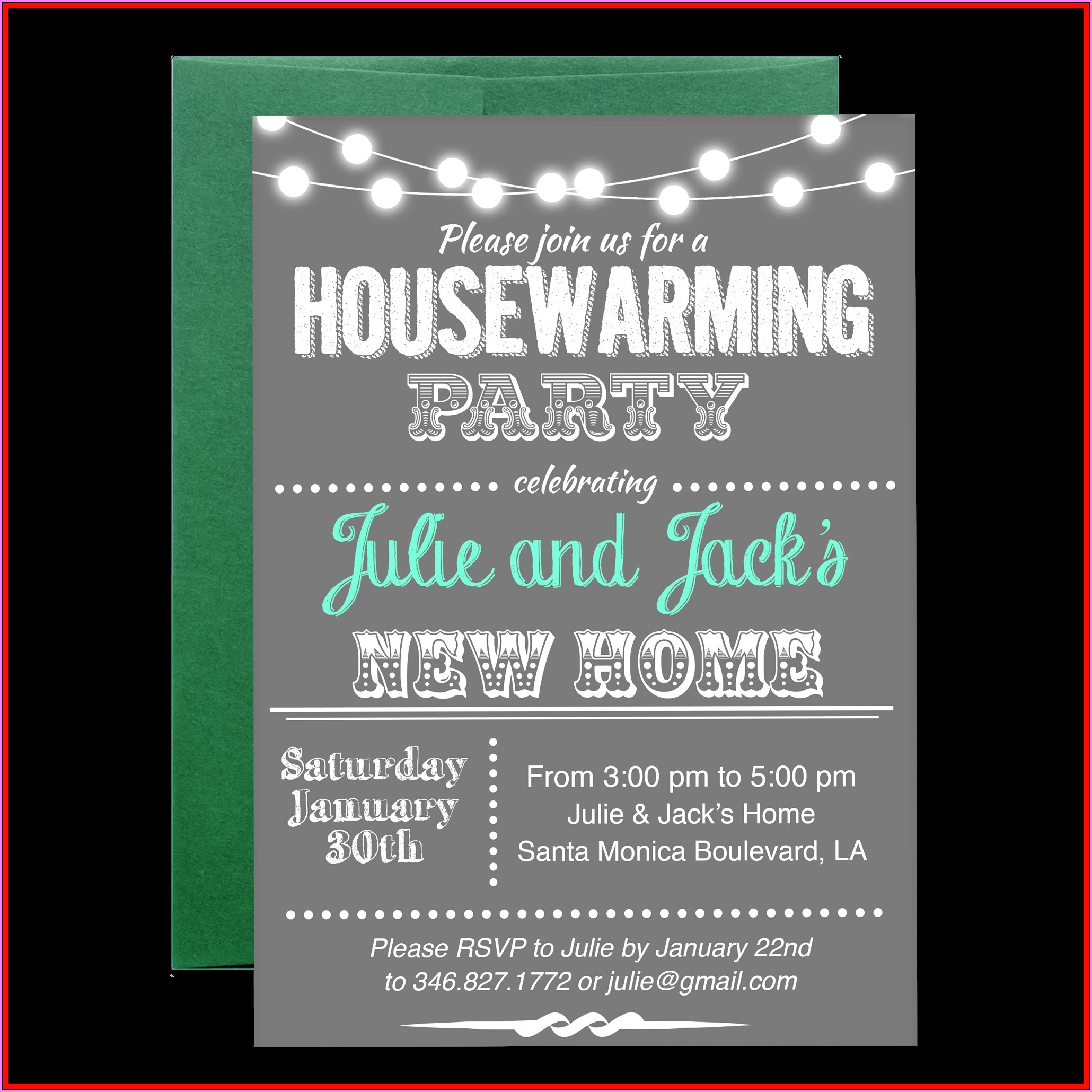 Housewarming Party Invitation Template Free