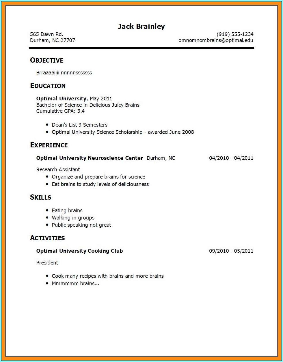 How To Build A Resume For Someone With No Work Experience