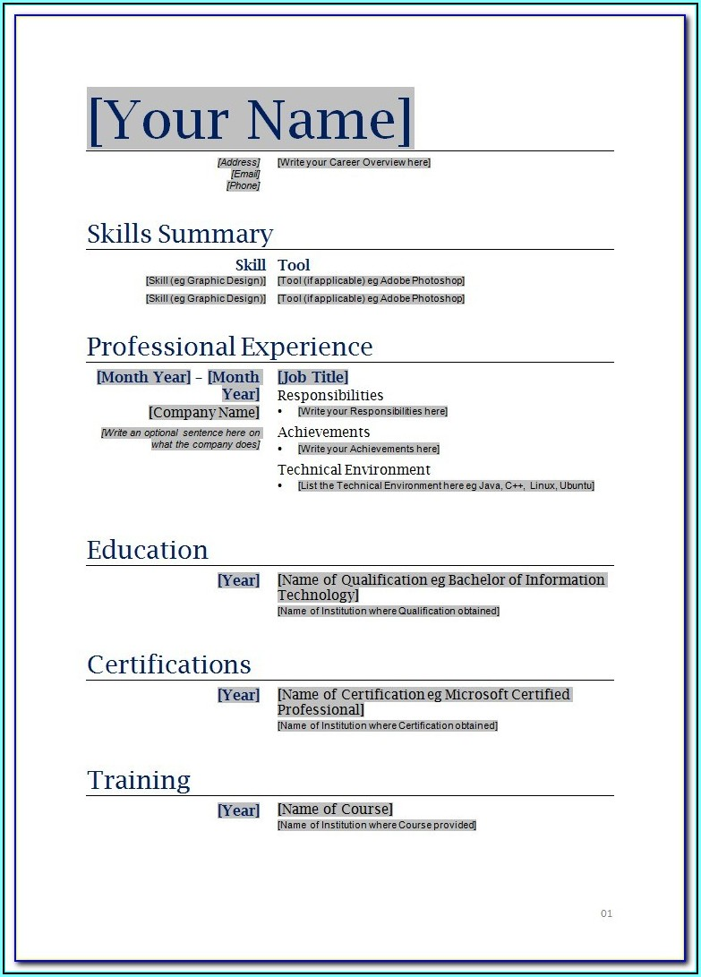 How To Create An Excellent Resume