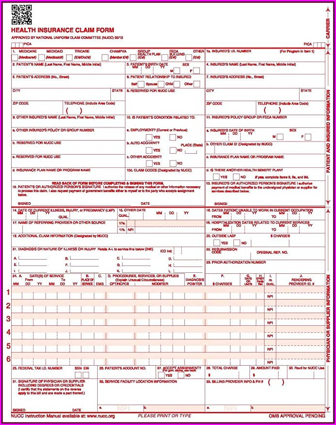 How To Fill Out A Cms 1500 Form 0212