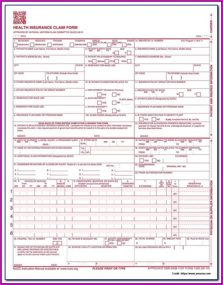 How To Fill Out A Cms 1500 Form For Tricare