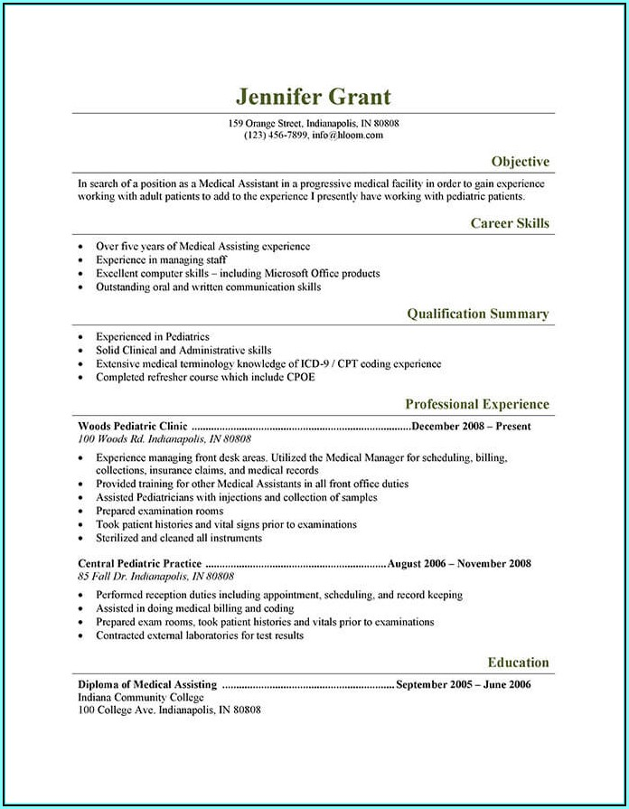 How To Write A Medical Assistant Resume