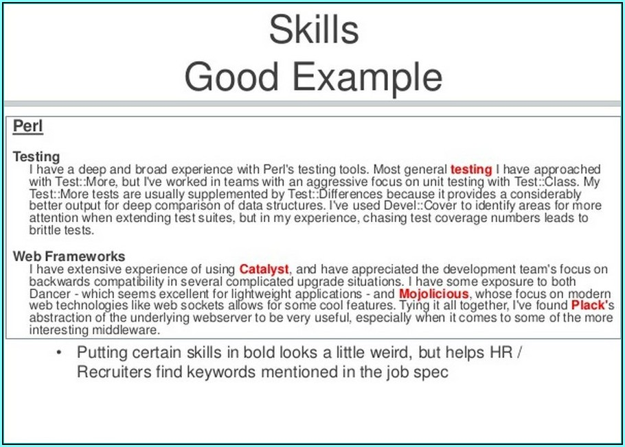 How To Write A Resume For A Job Singapore