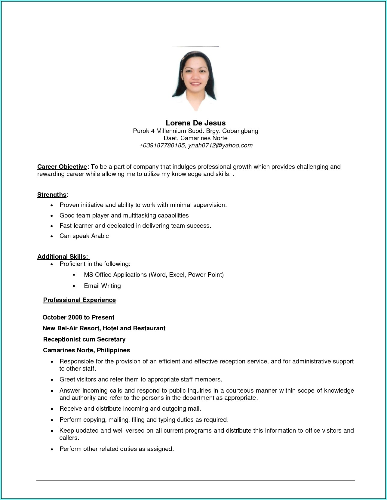 How To Write A Resume For Part Time Job Singapore