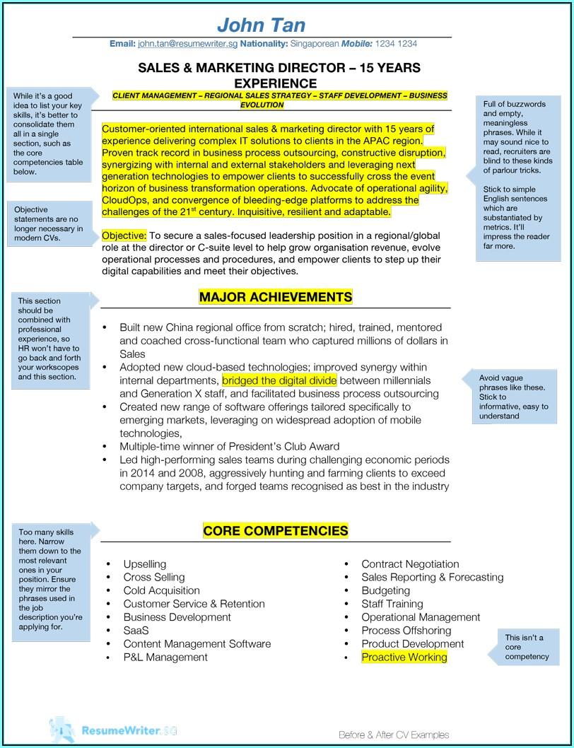 How To Write A Resume Singapore