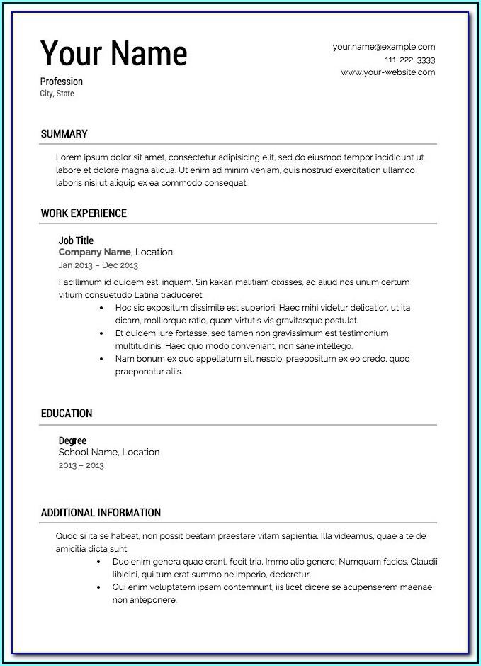 Impressive Resume Templates Free Download