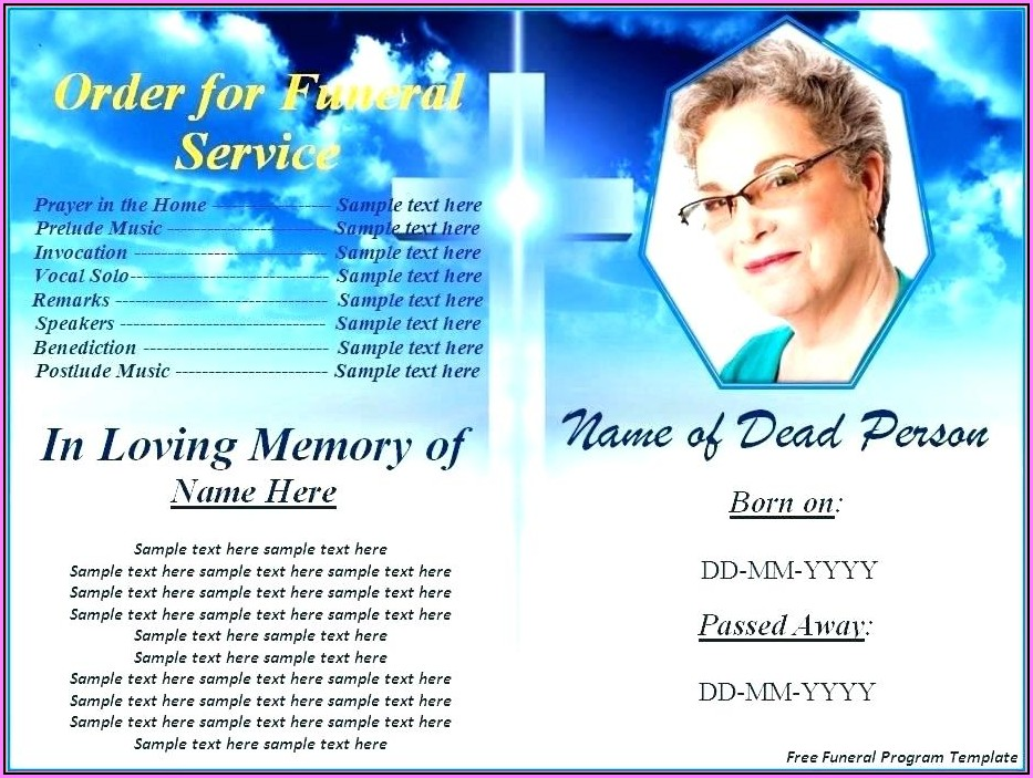 In Loving Memory Cards Template