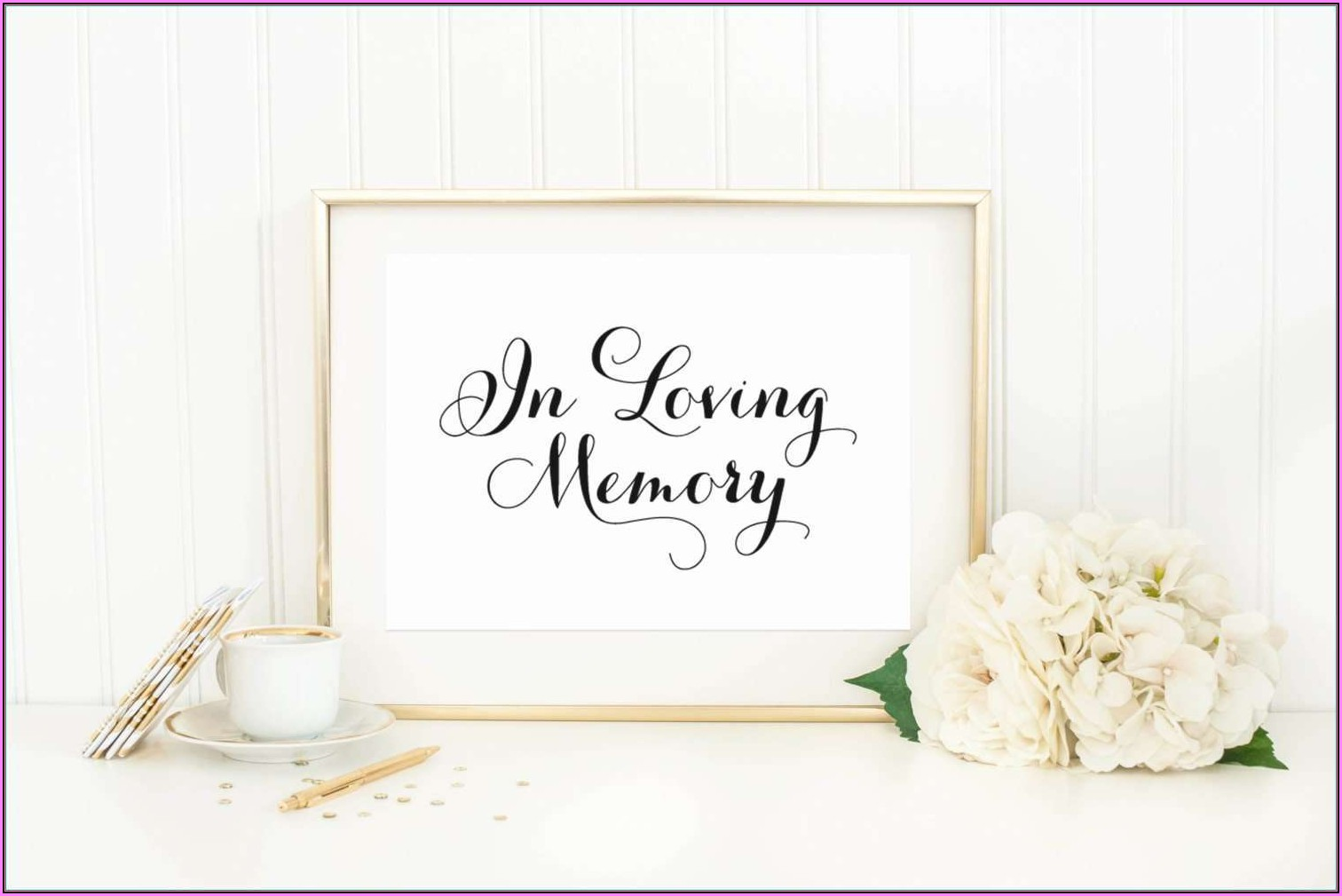 In Loving Memory Powerpoint Template