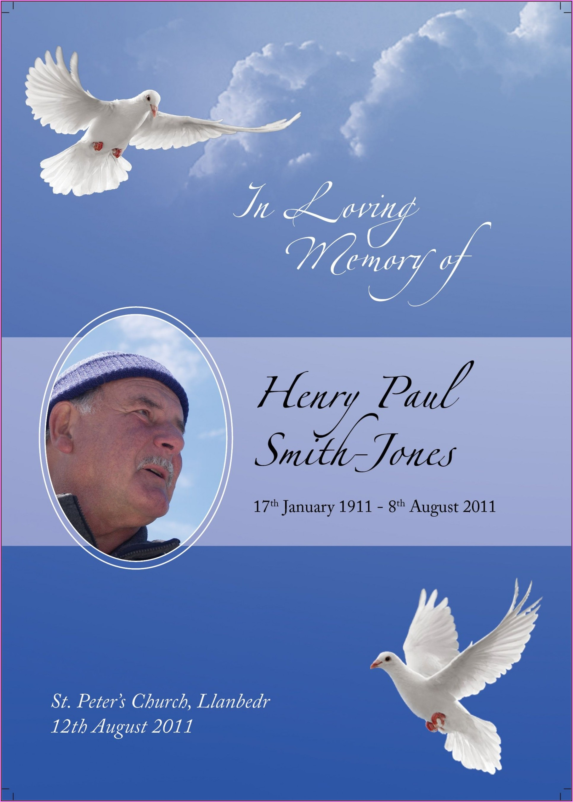 In Loving Memory Template Philippines
