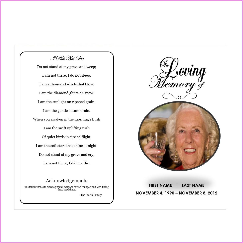 In Loving Memory Template Psd