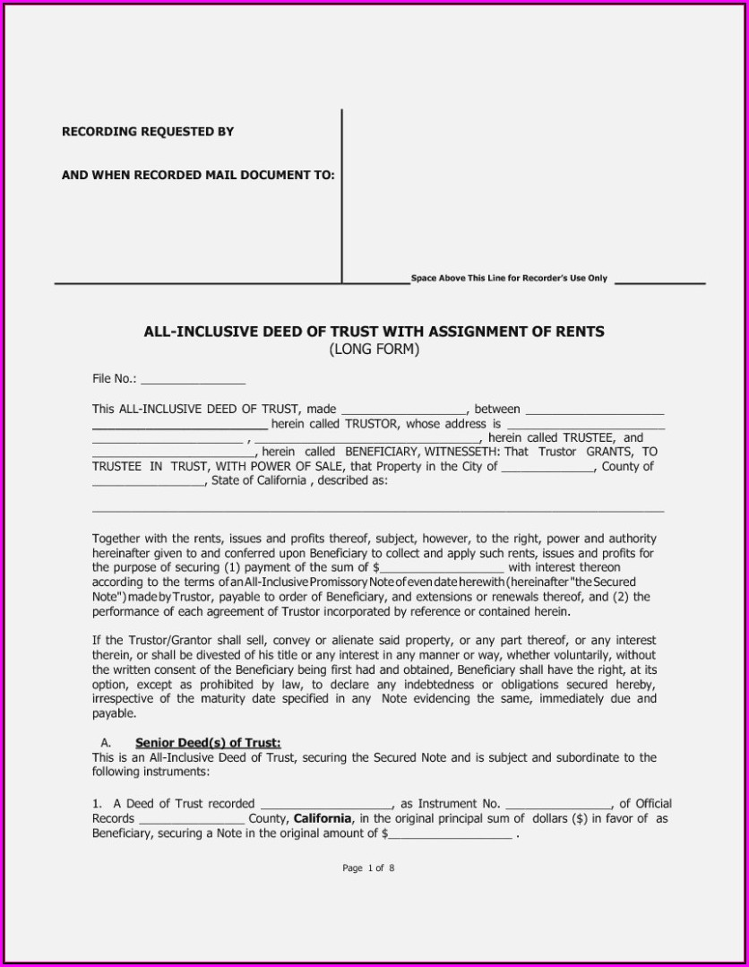 Interspousal Grant Deed Form California