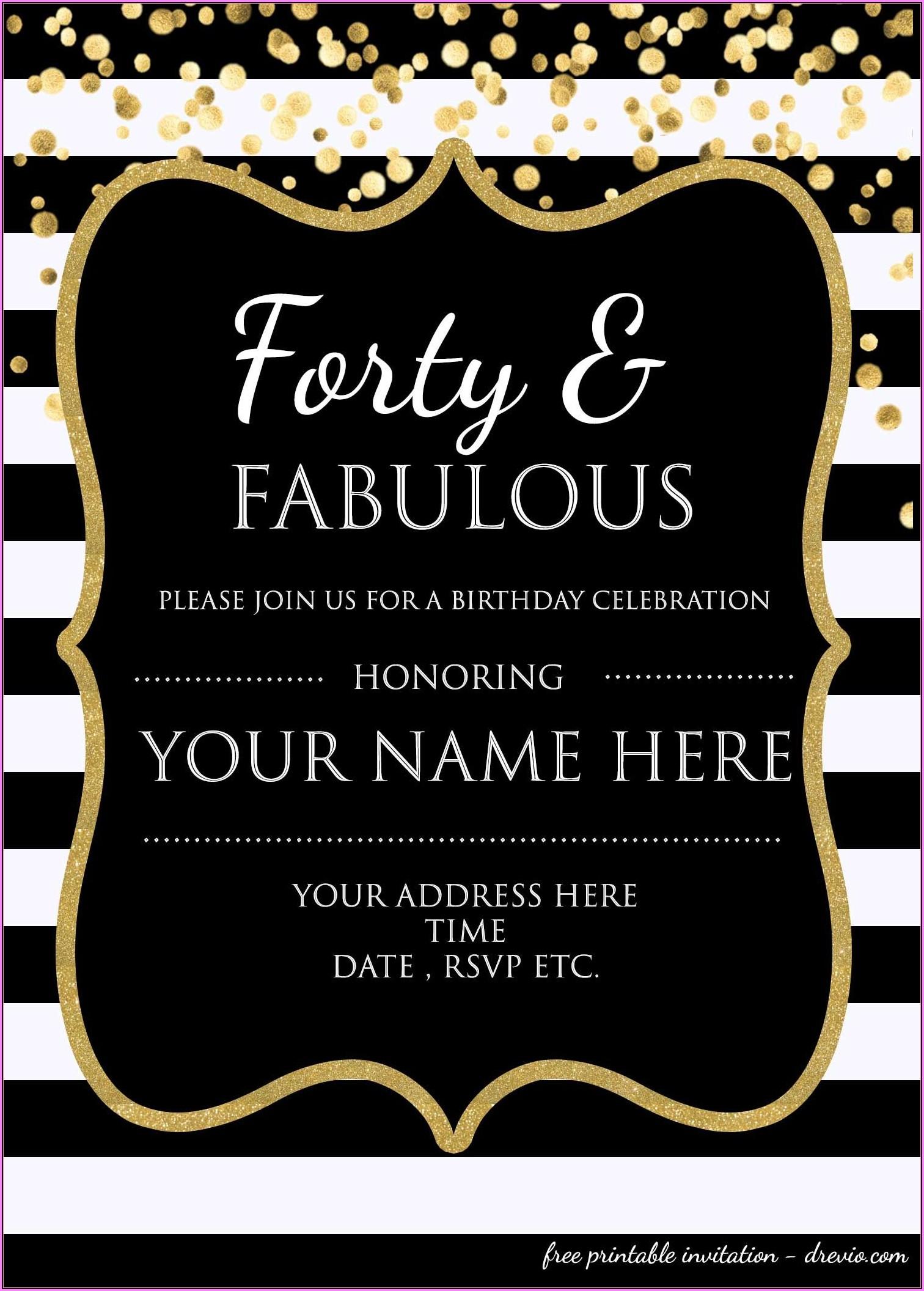 Invitation Templates Free Download Birthday