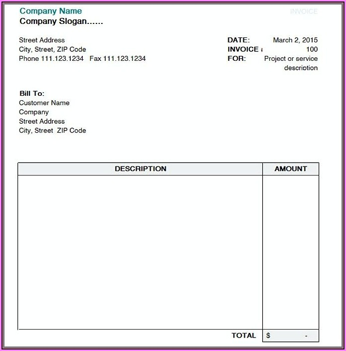 Invoice Template Open Office