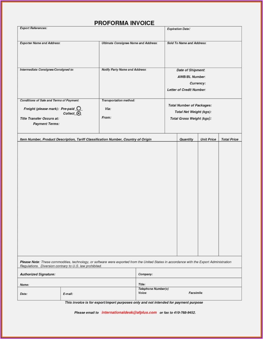 Invoice Template Xls India