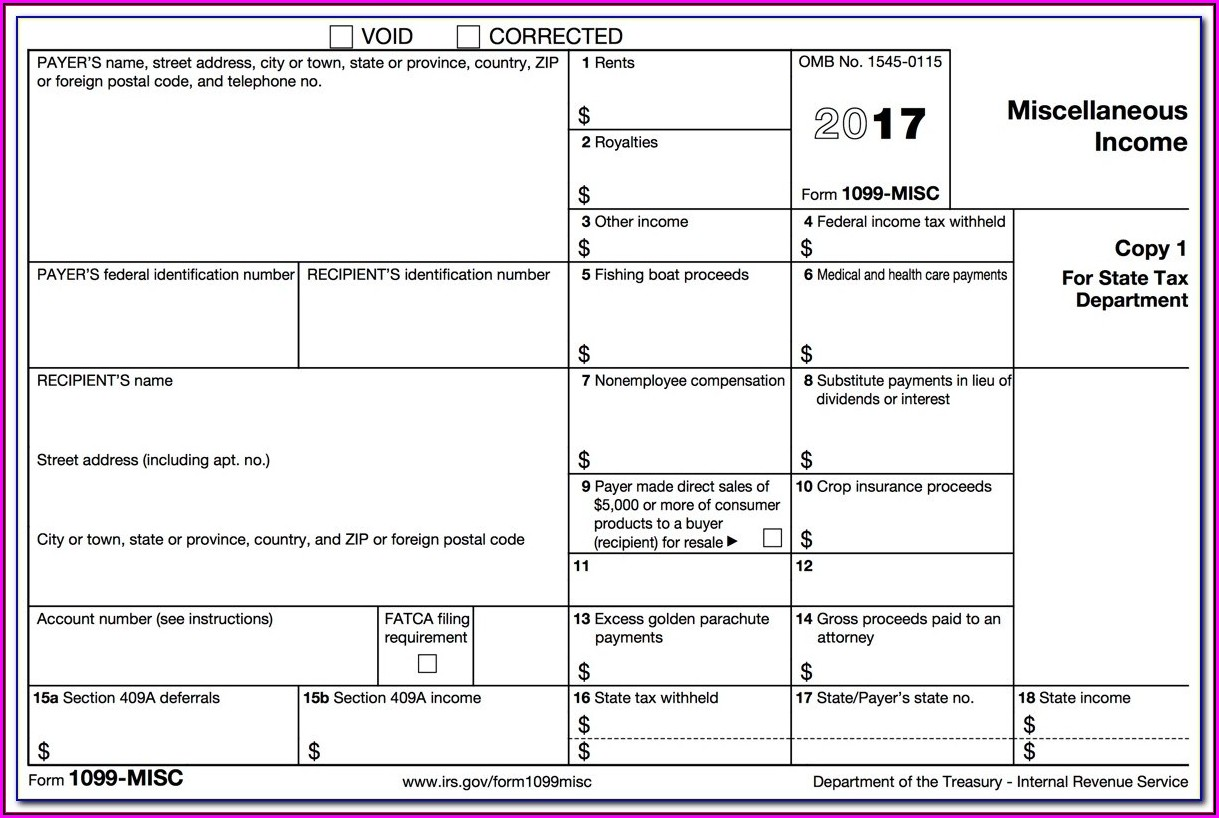 Irs.gov 1099 Printable Form