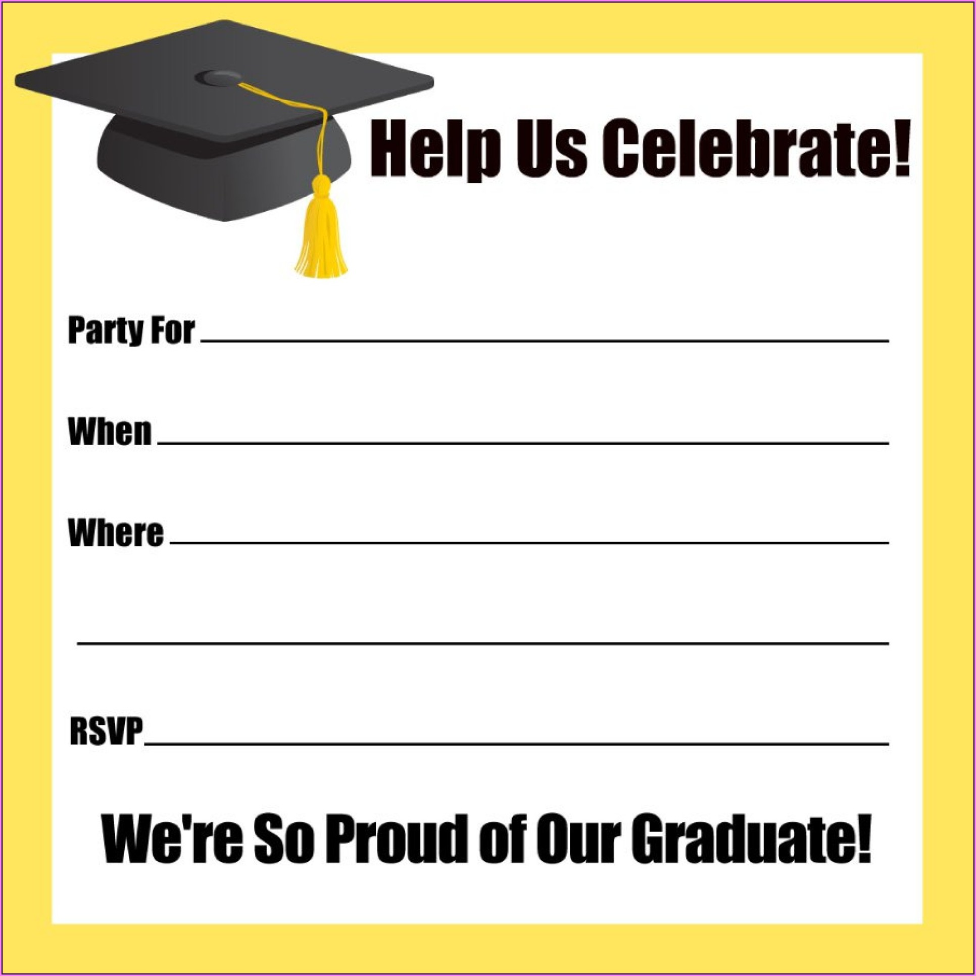 Kindergarten Graduation Invitation Templates Free