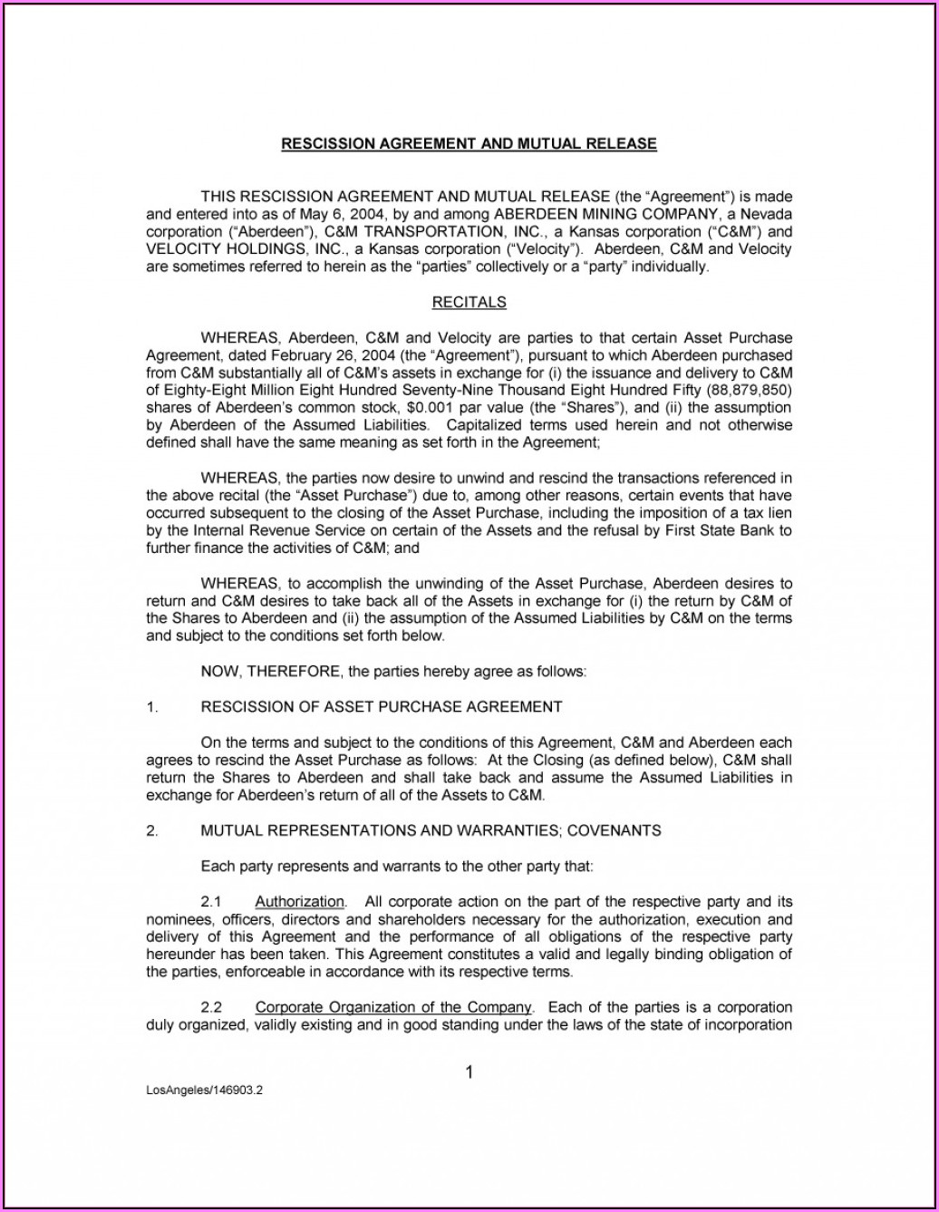 Legally Binding Agreement Template Uk