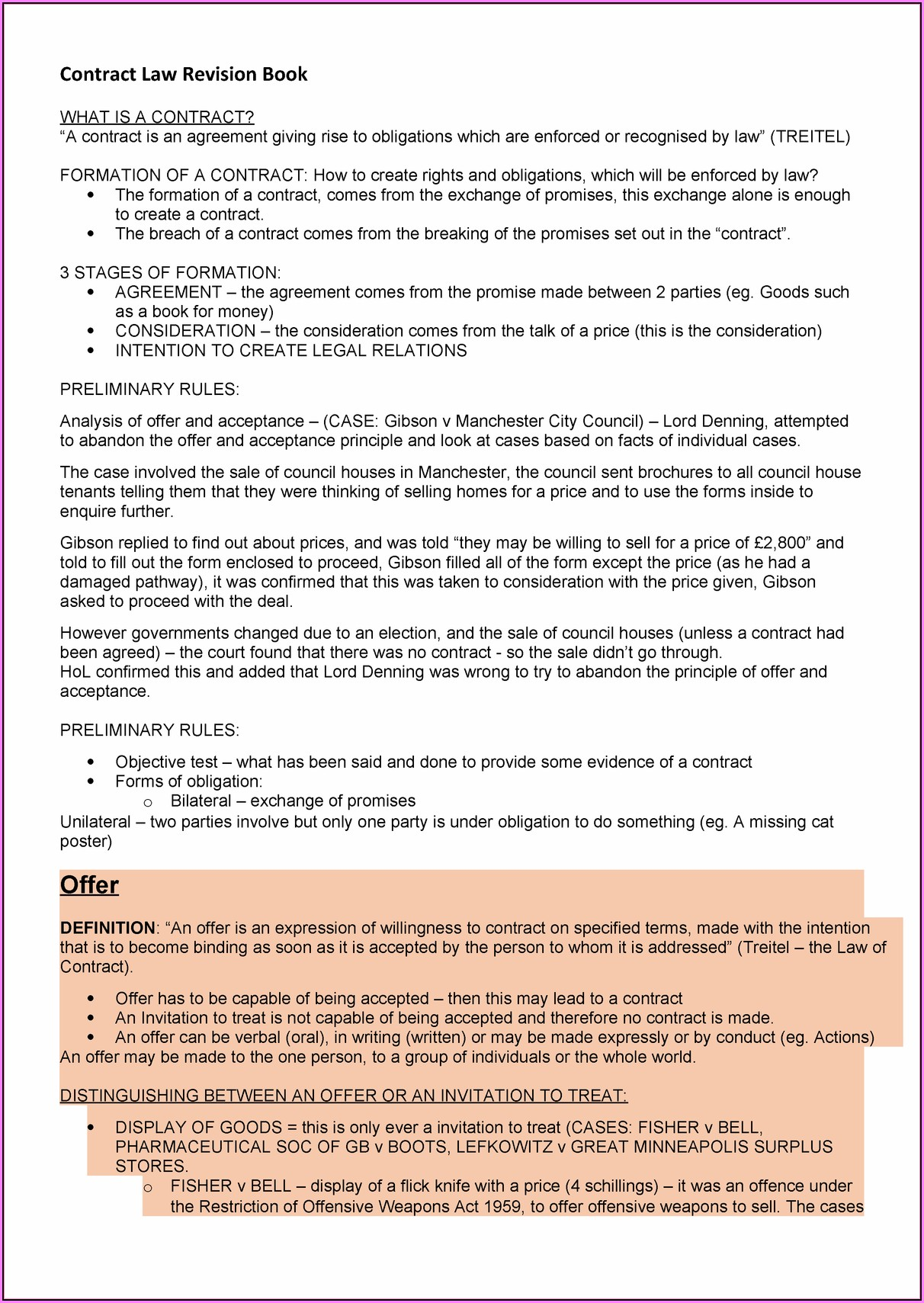 Legally Binding Contract Template Australia