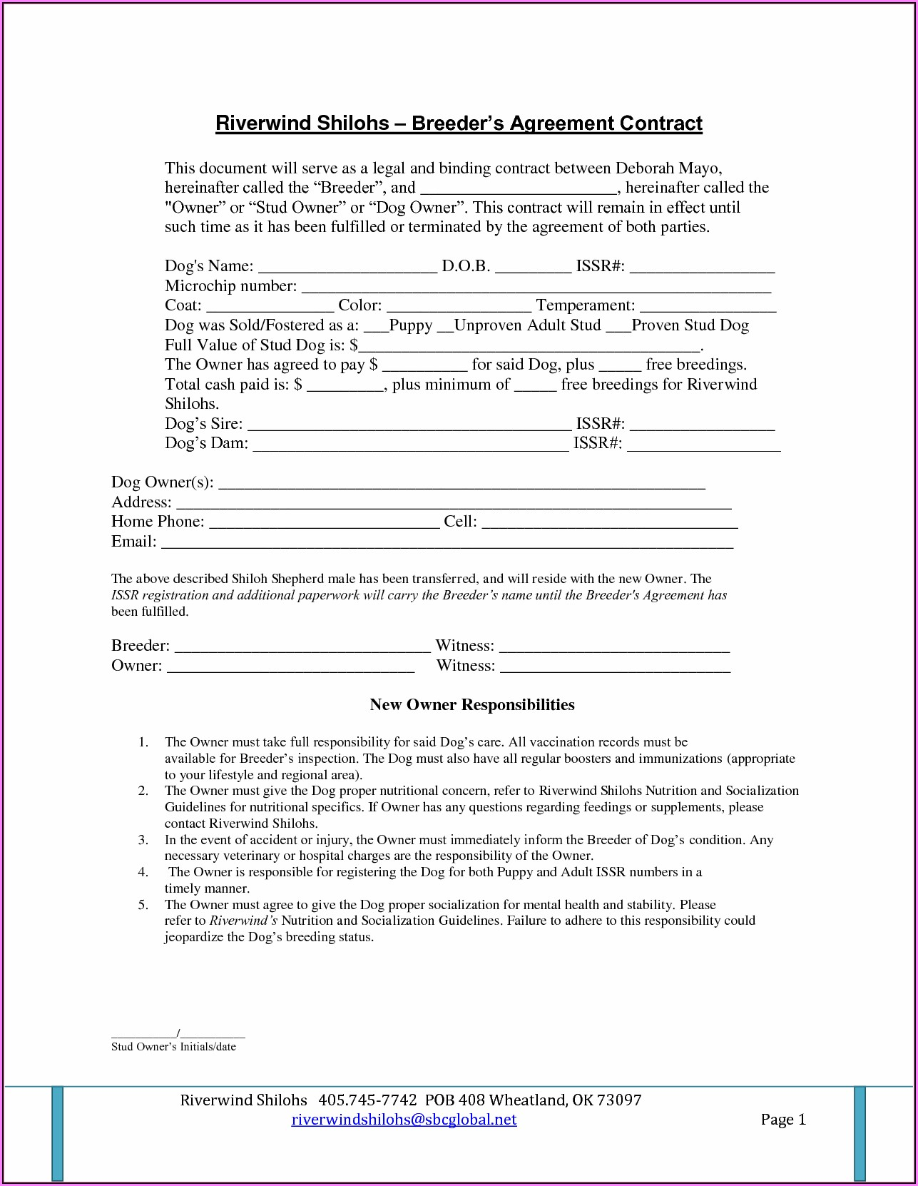 Legally Binding Contract Template Uk