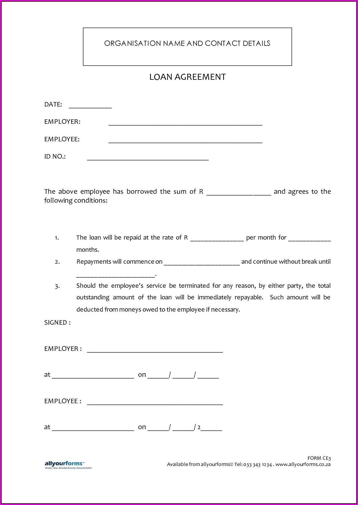 Loan Agreement Sample Format India