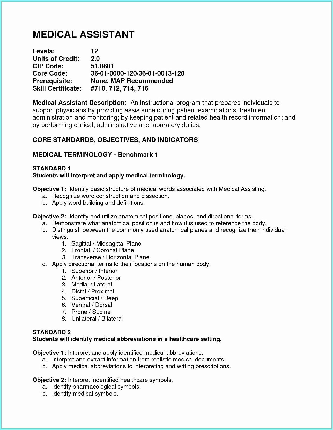 Medical Assistant Resumes Examples