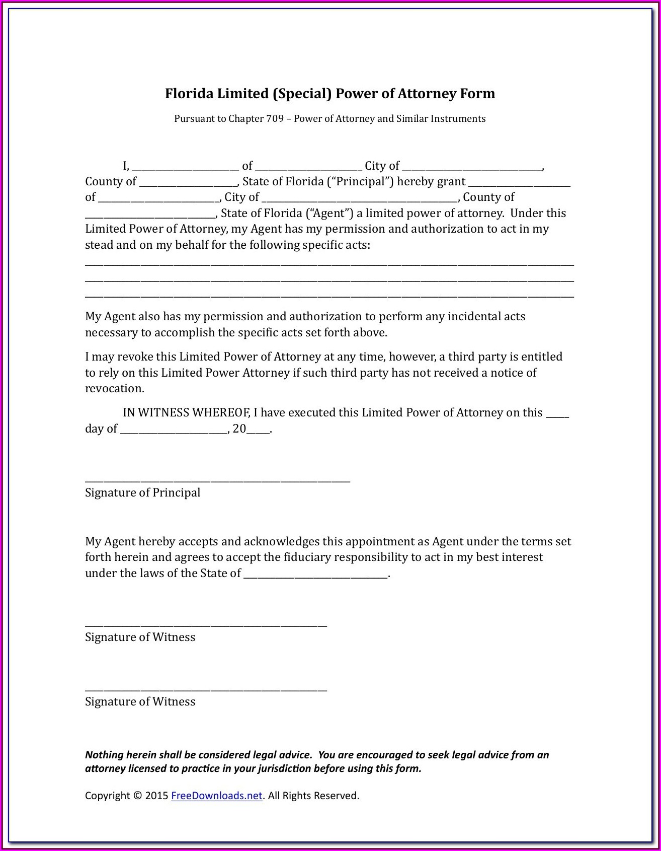 Medical Power Of Attorney Form Download