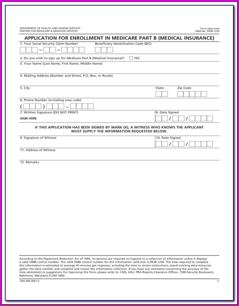 Medicare Enrolment Application Form (3101)