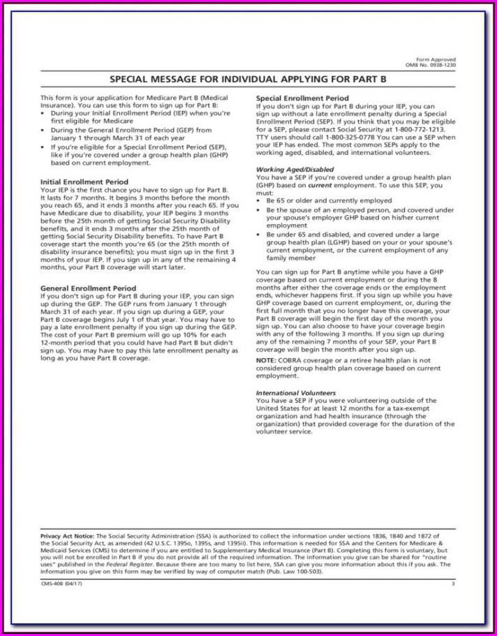Medicare Re Enrolment Form