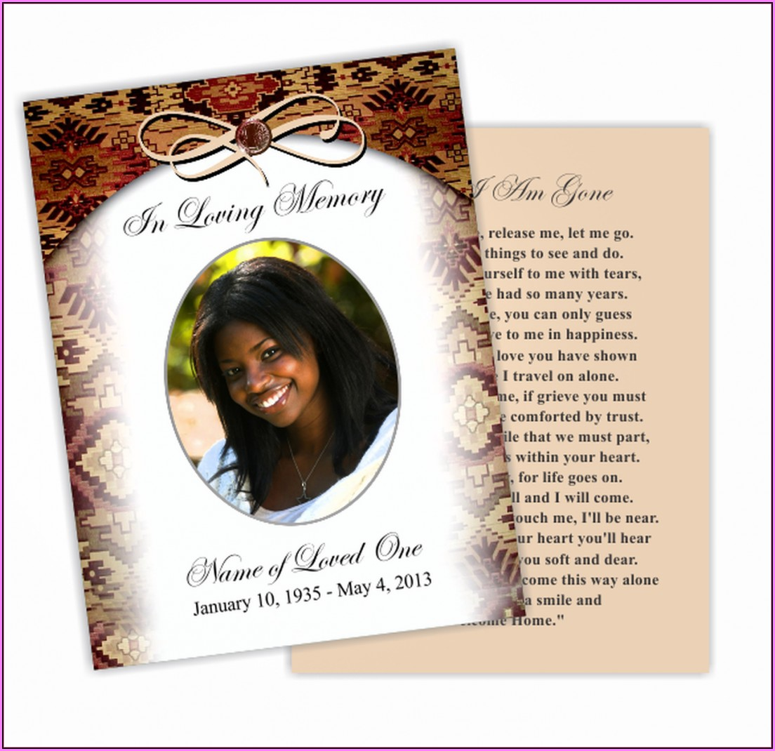 Memorial Card Template Photoshop