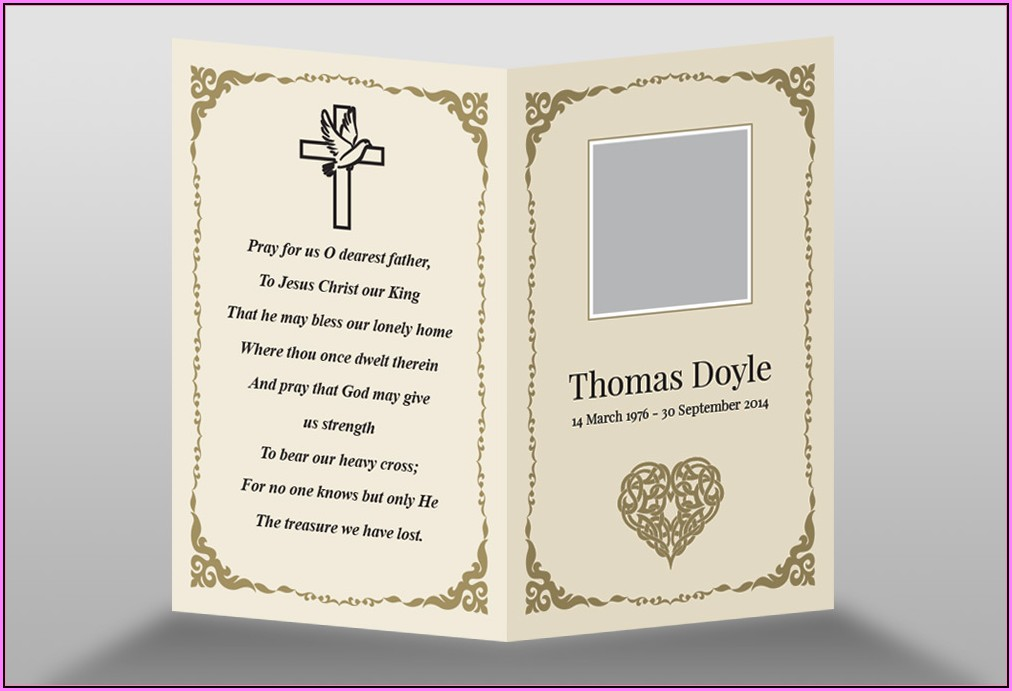 Memorial Card Template