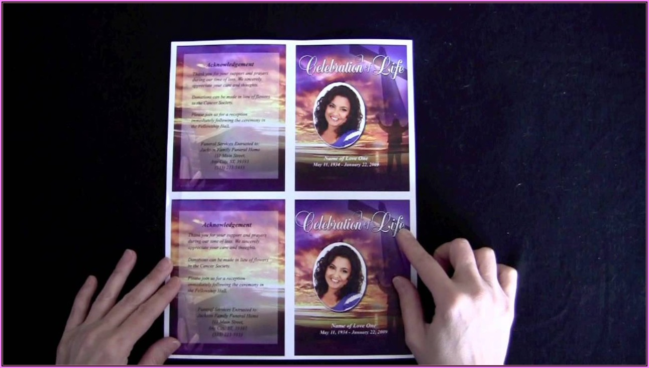 Memorial Cards Template Free