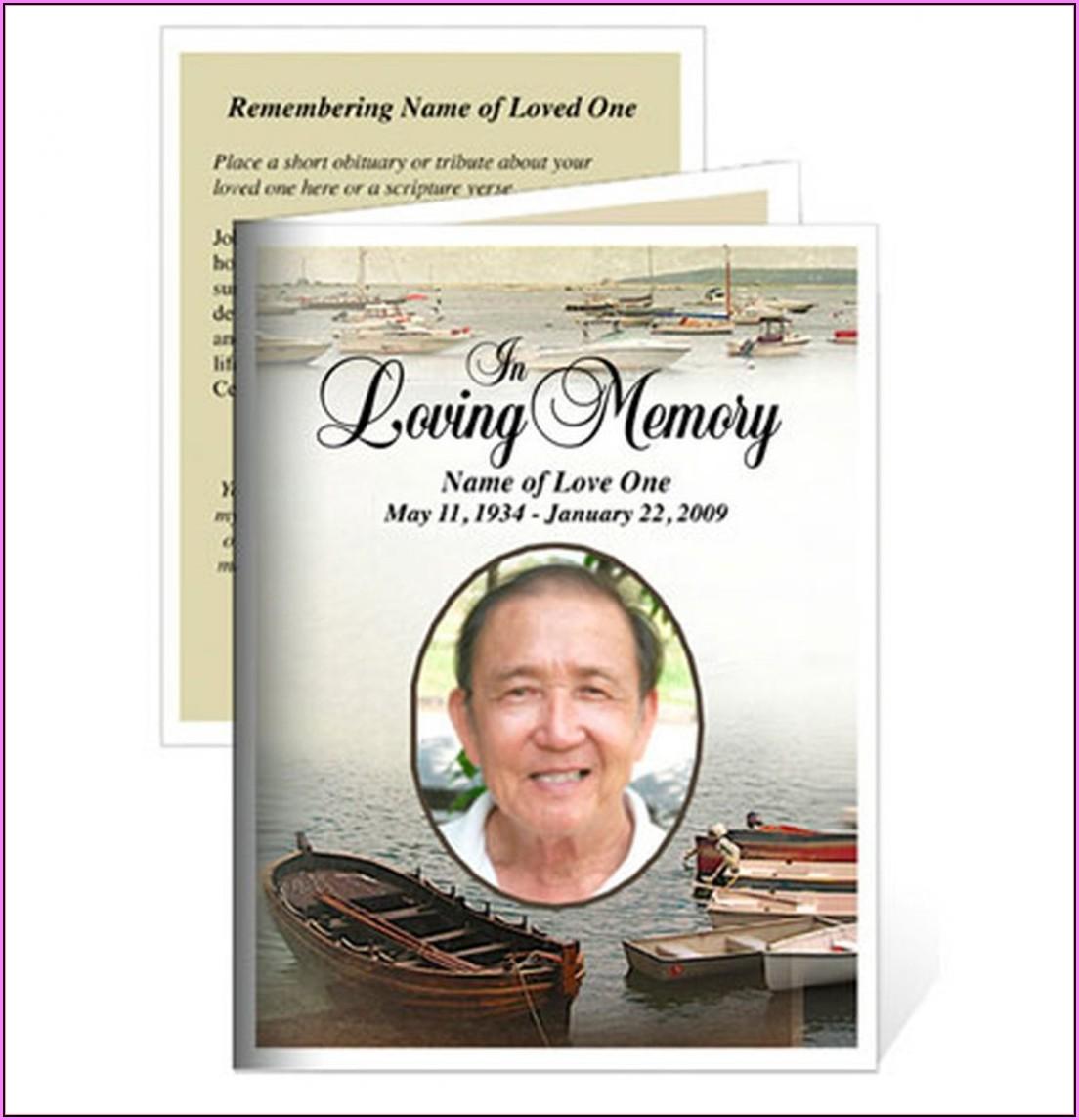 Memorial Cards Templates