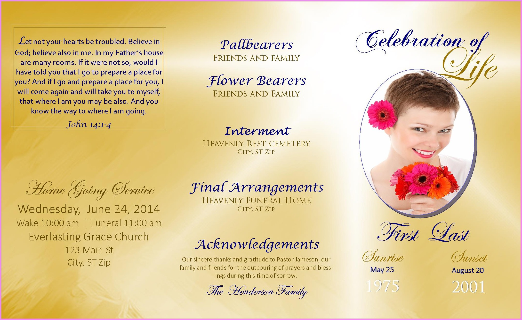 Memorial Service Slideshow Template