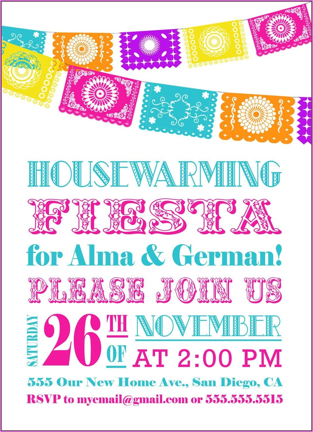 Mexican Invitations Free Templates
