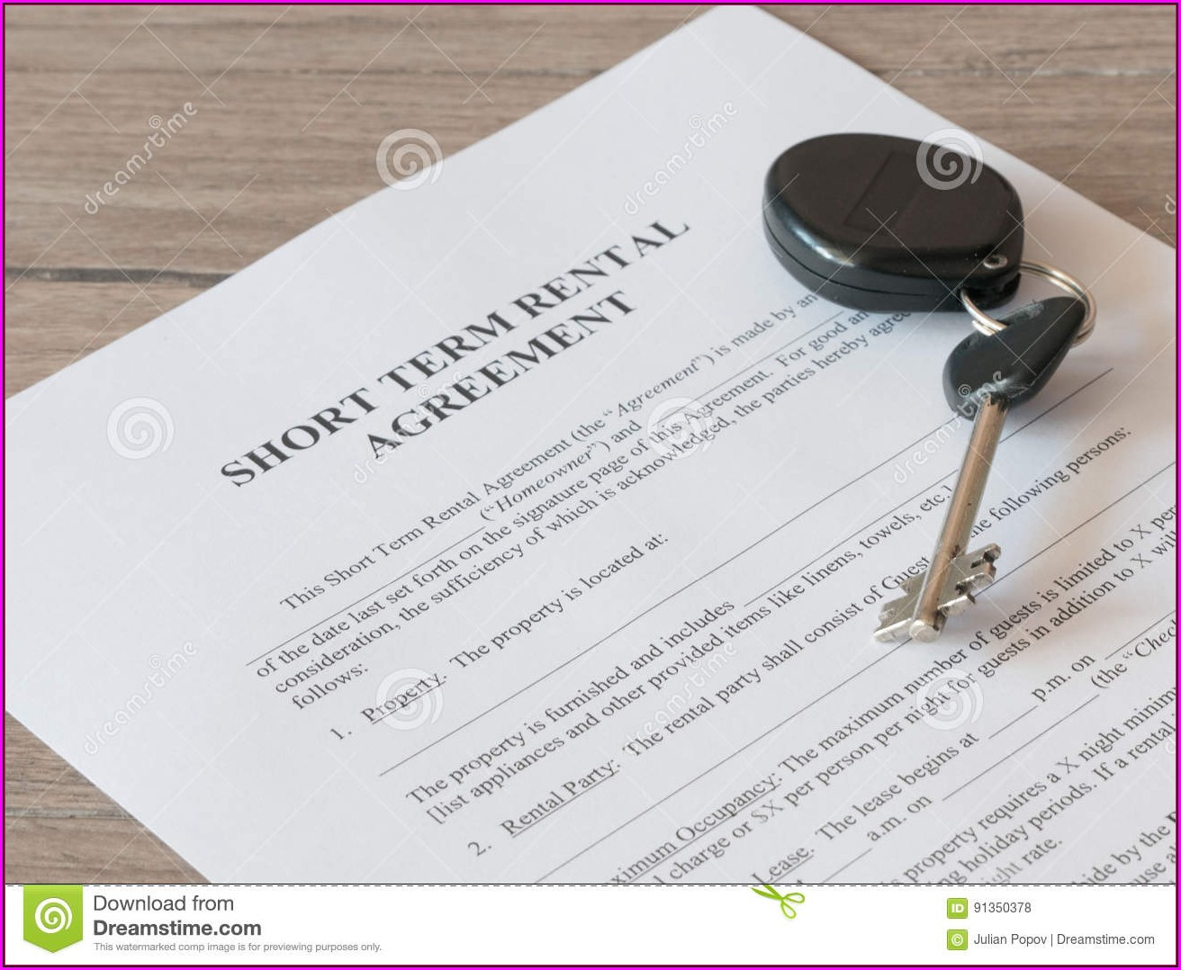 Mortgage Lease Agreement Form