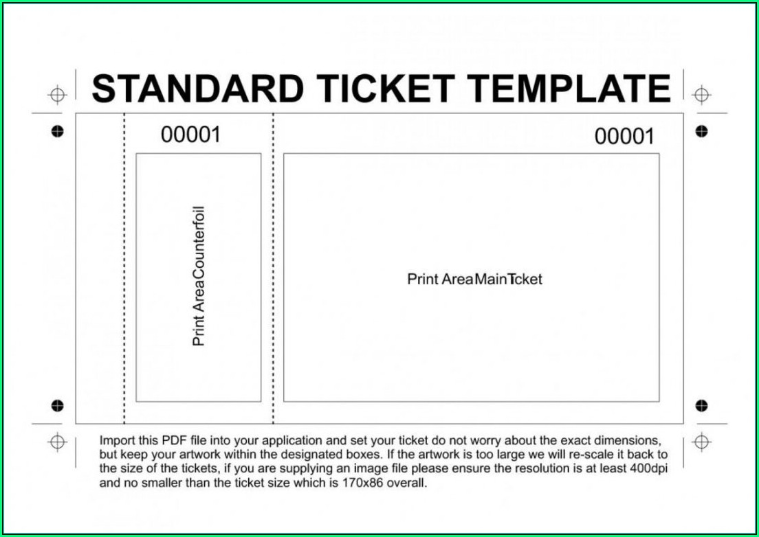 Movie Ticket Invitation Template Word