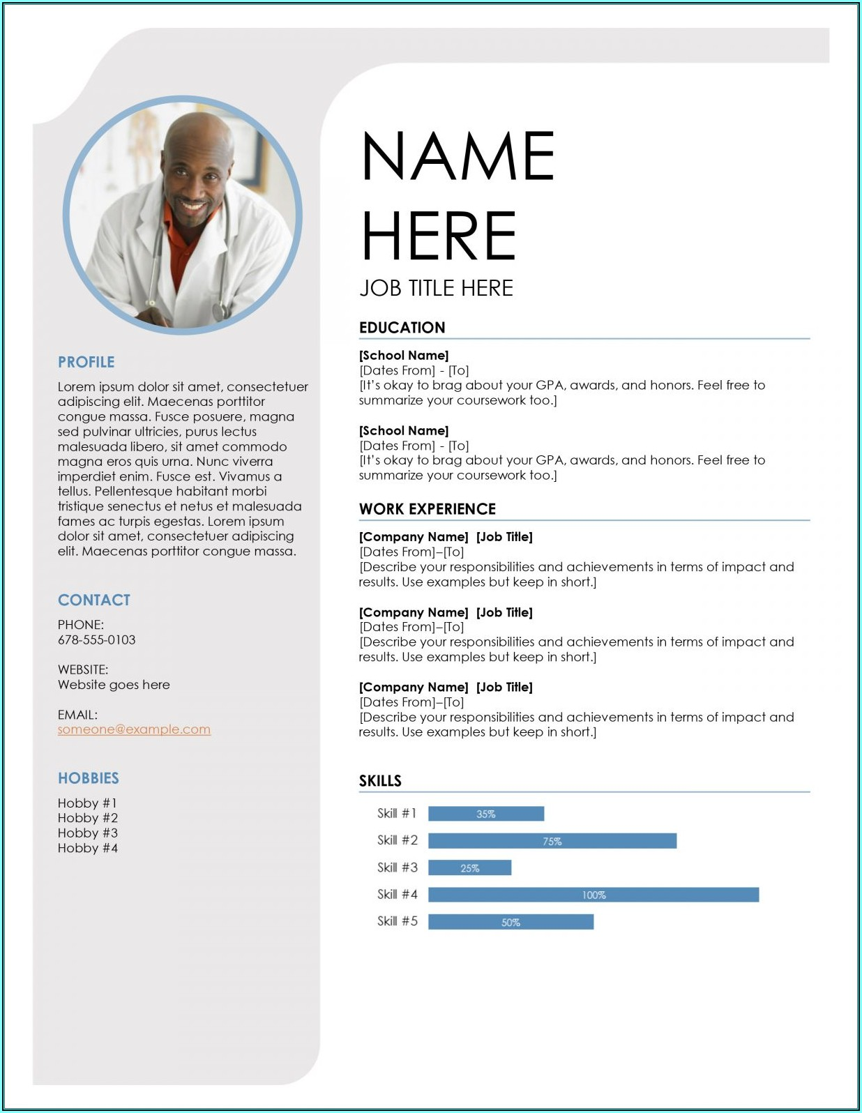 Ms Office Cv Templates Free Download