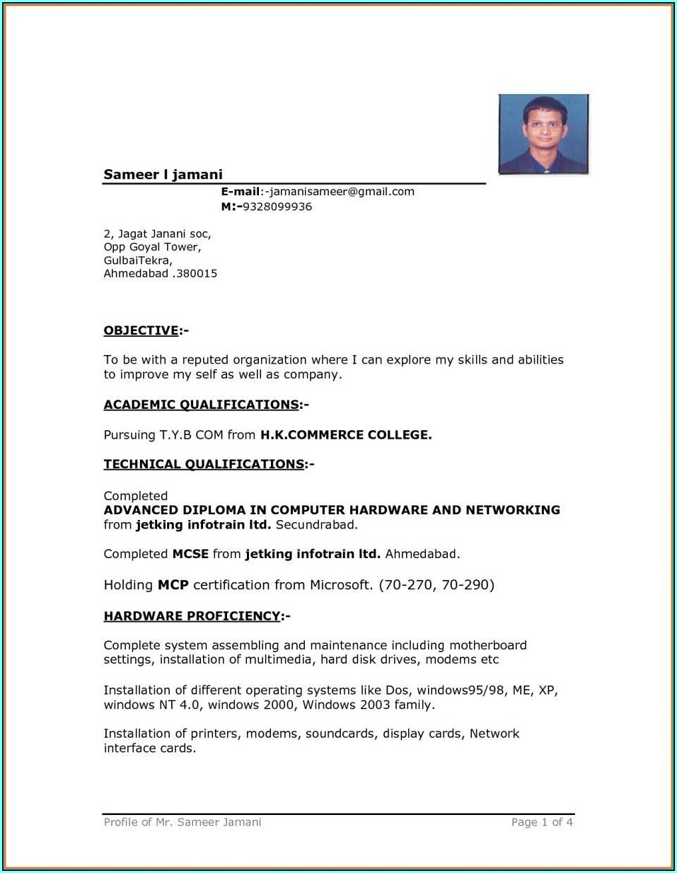 Ms Word Cv Templates Free Download